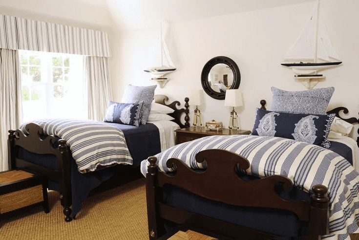 sophisticated nautical bedroom