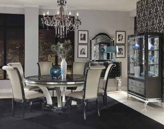 Small Hollywood Glam Dining Room